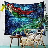 人魚の壁の装飾タペストリー3Dプリントタペストリー AMINIY (Color : C, Size : 150cm×200cm)