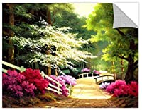 Tremont Hill Egidio Antonaccio ''Azalea Path'' Gallery Wrapped Canvas, 24X32 [並行輸入品]