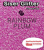 Siser Glitter Iron On Heat Transfer Vinyl 12 Inches (Rainbow Plum, 1 Yard)