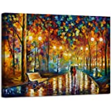 AGCary Romance Under Umbrella Poster with Framed Print Canvas Painting Picture Wall Art for Home Decorations Wall Decor 12 x