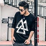(ツー ステップス ビハインド) Two Steps Behind 大きいサイズ メンズ ラウンドネック 長袖 Tシャツ RE42 (4XL)