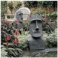 Large Easter Island MoaiヘッドデザインアジアEaster Island Statues Tiki