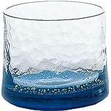 東洋佐々木ガラス 日本酒グラス ブルー 130ml 江戸硝子 八千代窯 杯 日本製 10790