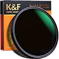 K&F Concept 可変NDフィルター 67mm ND2-ND32レンズフィルター X状ムラなし 18層ナノコーティ…