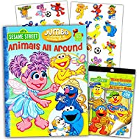 Sesame Street Coloring Book with Stickers (96 Pages) 【You&Me】 [並行輸入品]