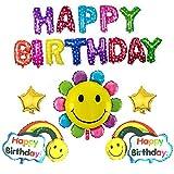 バースデー 飾り付け 風船 セット 誕生日 飾り バルーン グッズ 男の子 女の子 ( レインボー )