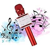 Wireless Bluetooth Karaoke Microphone - Upgraded Portable Handheld Karaoke Speaker Machine Support USB Flash Drive Compatible