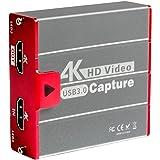 TreasLin キャプチャーボード 4K HDMI USB3.0 ビデオキャプチャカード ゲーム 1080P 60FPS HD 画質 Windows/Linux/Mac OSX 対応 PC / PS3 /PS4 / Xbox/Switch/Wii