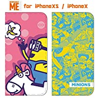 【カラー:コミック】iPhoneXS iPhoneX 怪盗グルー ミニオンズ ケース キャラクター スマホ カバー 手帳型ケース 手帳型 手帳ケース ダイアリー フリップ かわいい ミニオン ボブ アイフォン X XS iphone iphonexsケース スマホカバー スマホケース 10 テン テンエス スマホケース s-gd_7a451