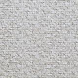 山善 壁紙 水で貼れる壁紙 簡単 53×34cm 20枚セット アンティークストーン YPW-S20(AS)