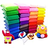 36 Bright Color Air Dry Super Light Clay Craft Kit Modeling Clay Artist Studio Toy, Great Kids
