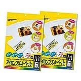 【セット】 コクヨ インクジェットプリンタ用紙 アイロンプリントペーパー A4 5枚 KJ-PR10N ★2冊セット
