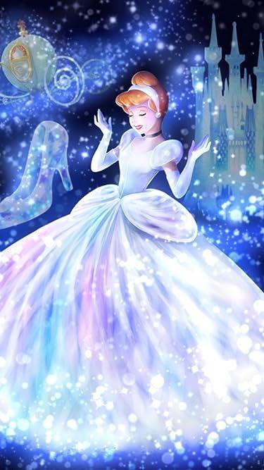 ディズニー  iPhone/Androidスマホ壁紙(540×960)-1 - 魔法の光に包まれて(シンデレラ)