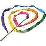 Sarah's Silks 9-Foot Long Vibrant Rainbow Silk Streamer