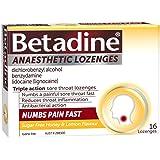 Betadine Anaesthetic Lozenges - Triple action sore throat lozenges - Numbs a painful sore throat fast, Honey & lemon flavour,