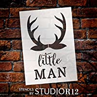 "Little Man – Antlers – Wordアートステンシル – 11 "" x 17 "" – stcl1757 _ 3 – by studior12"