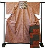 博多着物市場 きものしらゆり 釘抜紬 日本三代紬 牛首紬 紬 袋帯 セット 正絹 仕立て上がり
