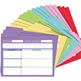 EOOUT 18 Pack Project File Folders with Tabs, Manila, Notes File Folders, Letter Size, 6 Assorted Colors, 11.5x9.5inch, 1/3 C