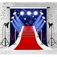 5x 7ftレッドカーペットBackdrops for PhotographyビニールShinyステージ写真スタジオ写真背景小道具