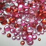 高品質アクリルストーン ラインストーン MIXパック (約1000粒入り) ピンク系