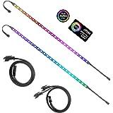 ALITOVE Addressable RGB LED Strip for PC, 5V WS2812B Rainbow Digital Light Strip for ASUS Aura SYNC, MSI Mystic Light SYNC, A