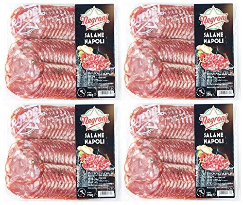 536048-4P Negroni SALAME NAPOLI 冷蔵 イタリア産 ネグローニ サラミ ナポリ ソフトサラミソーセージ(スライス)250g×4個