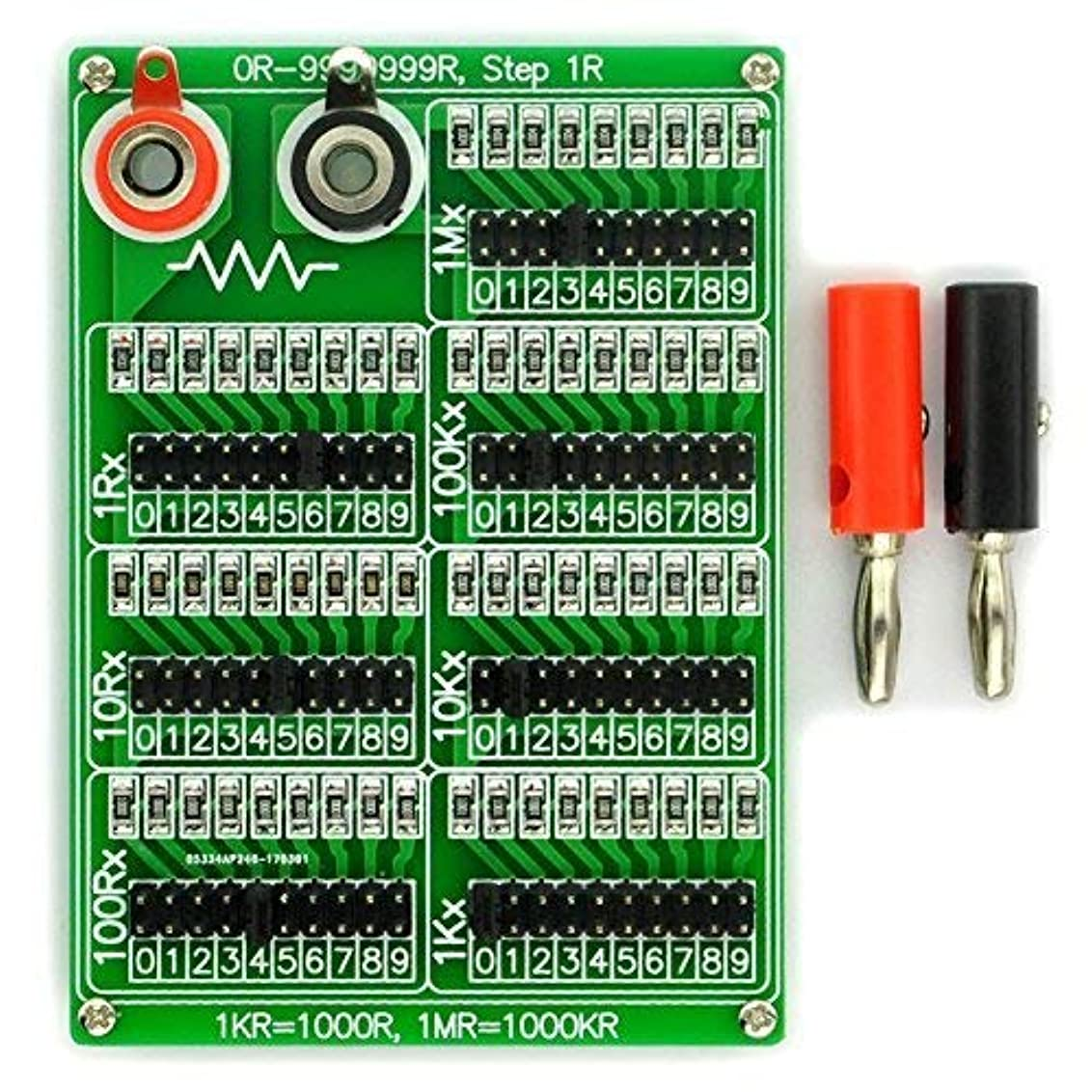 抜け目のないビリーバーマドElectronics-Salon 1R - 9999999r 7十年 プログラマブル抵抗基板 ステップ1R 1%、1/4ワット
