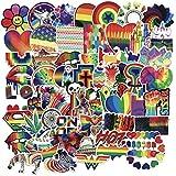 The Sticker World 60 pc Expressive LGBT Rainbow Sticker Pack