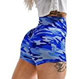 Joupbjw Women's Camouflage Workout Yoga Shorts High Waist Gym Scrunch Booty Short Leggings Sports Pants