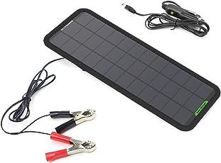 【2018年2月からバーションアップ】 ALLPOWERS カーソーラーチャージャー 18V 7.5W SunPower高効率ソーラーパネル 自動車 オートバイ トラクター ボート ソーラー充電器 メンテナ対応