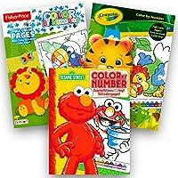 2パック色by Numbers Coloring Books Color By Number Books for Kids