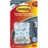 Command Cord Clips, Large, Clear, 2-Clips (17303CLR-ES)