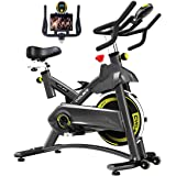 Cyclace Exercise Bike Stationary 330 Lbs Weight Capacity- Indoor Cycling Bike with Comfortable Seat Cushion, Tablet Holder an