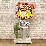 アメリカン テーブルクロック Route66 ルート66 RT66 オブジェ インテリア 時計 置時計 ギフト ミニクロック 世田谷ベース オールディーズ アメリカ 雑貨