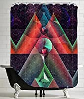 "American Flat 'Tyssyllyxxn Ylltymyt' Shower Curtain by Spires, 71""x 74"" [並行輸入品]"