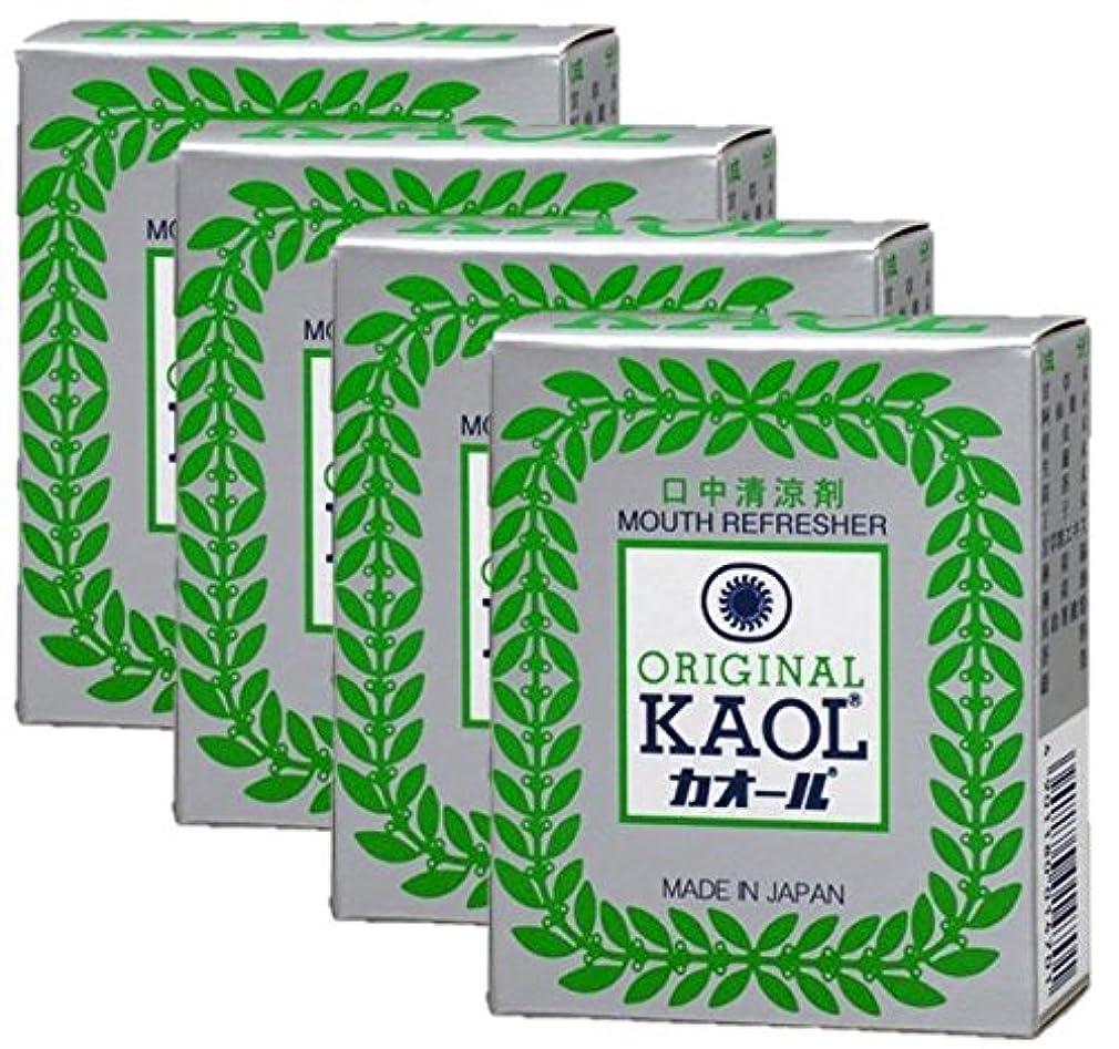 交流する突っ込むグローブ口中清涼剤 オリヂナル カオール 14.5g×4個セット