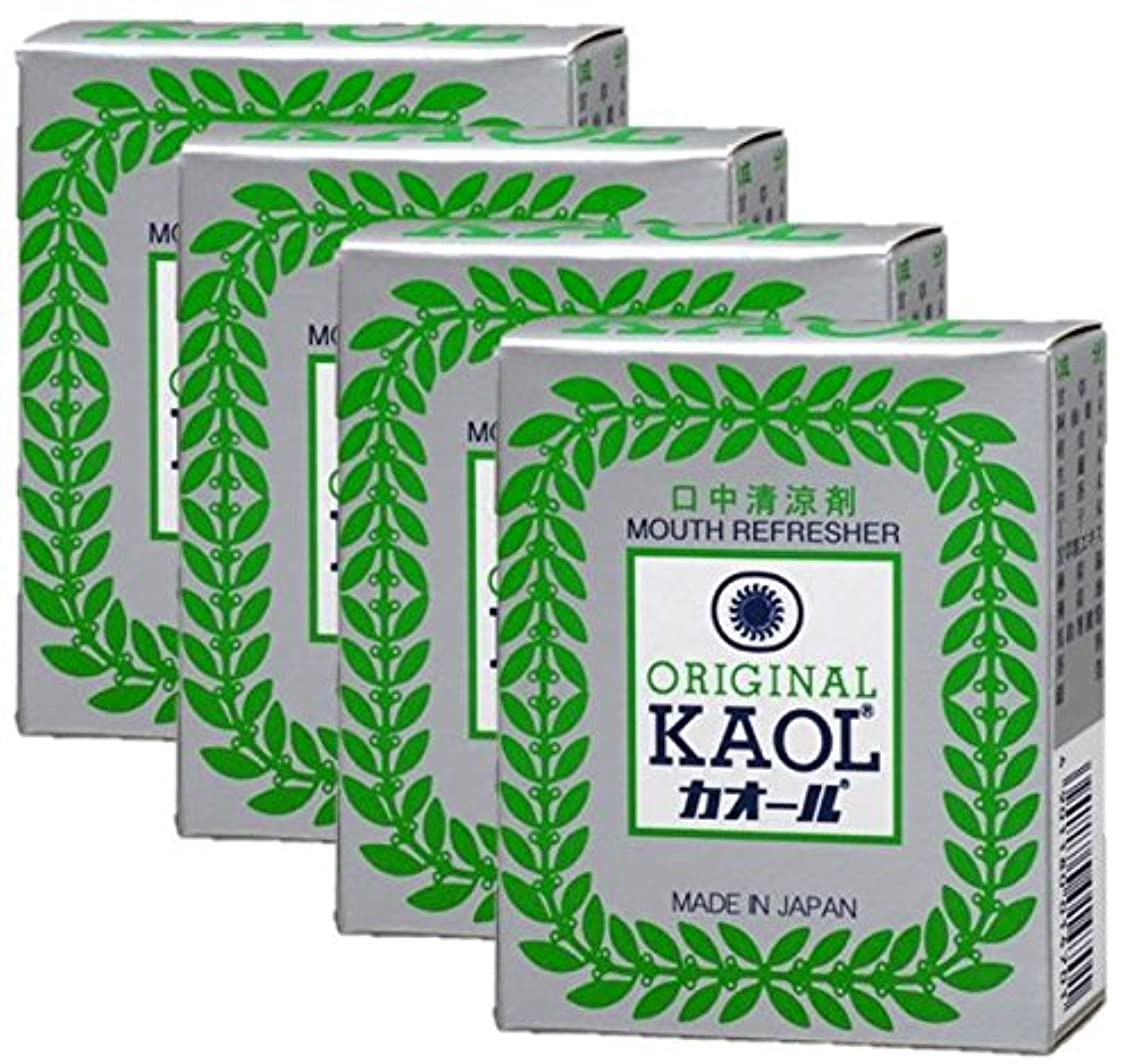永続堤防公平な口中清涼剤 オリヂナル カオール 14.5g×4個セット