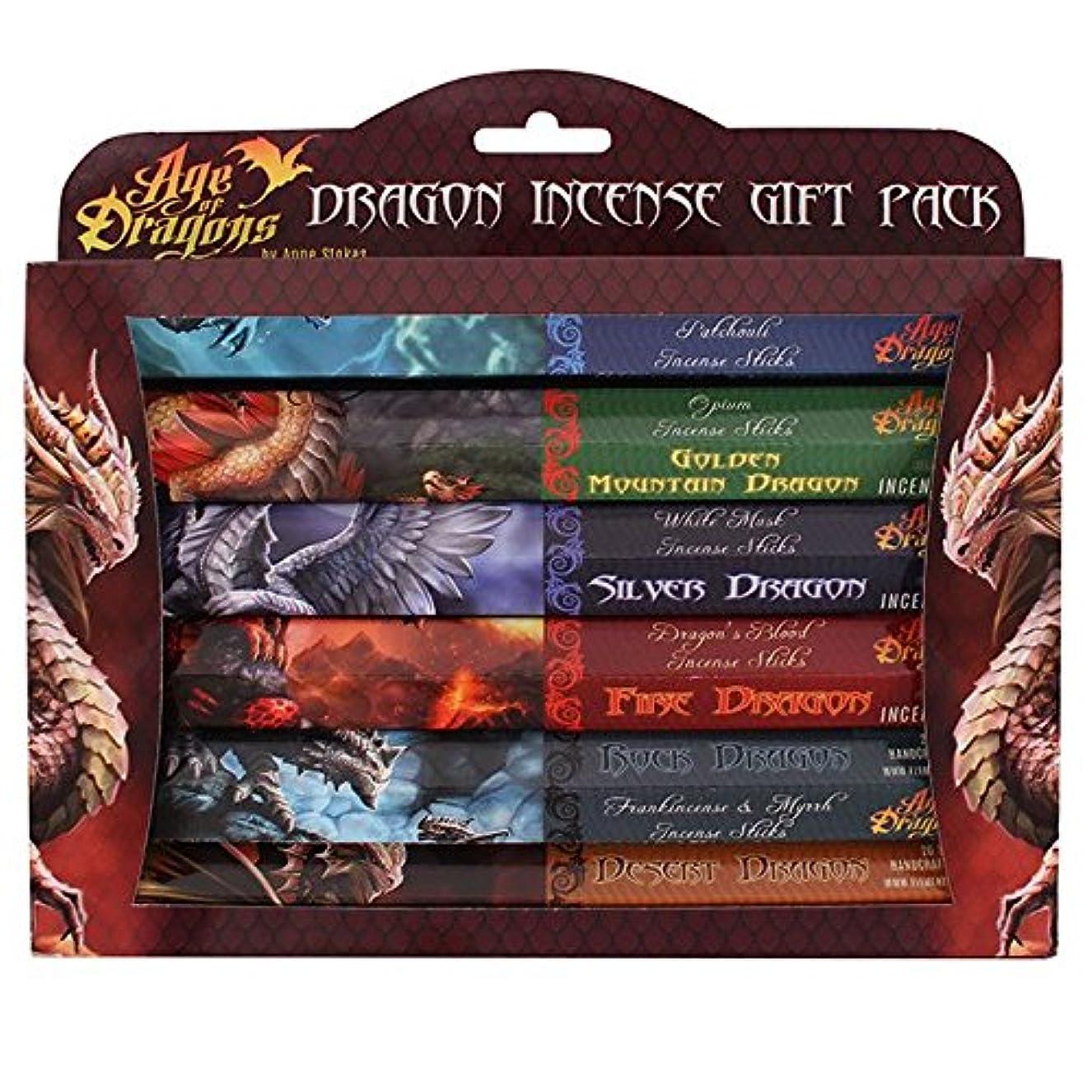クランシー差し迫った送金Pack Of 6 Age Of Dragons Incense Gift Pack