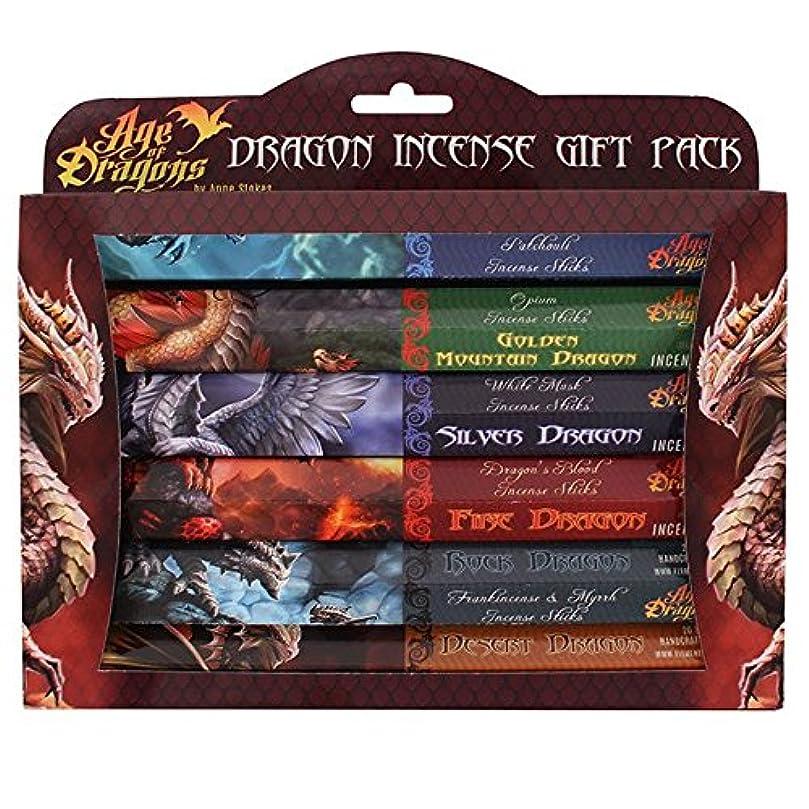 複製アスペクト予定Pack Of 6 Age Of Dragons Incense Gift Pack