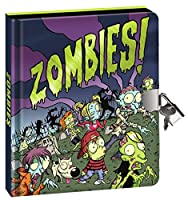 [ピーサブルキングダム]Peaceable Kingdom 'Zombies!' Foil Cover Lock and Key Diary with Black Pages and Silver Pen 5761 [並行輸入品]