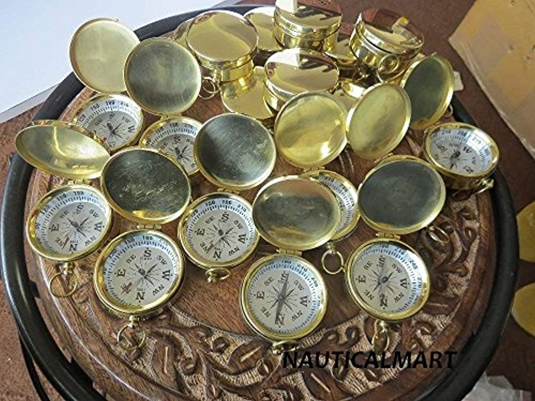 とティーム垂直大Wholesale Lot 100 Brass Fully Functional 37mm Compass by NAUTICALMART