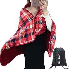 ひざかけ 膝掛け ブランケット大判 80×135cm ひざ掛け レディース ふんわり 寒さ対策 着る毛布 洗濯可