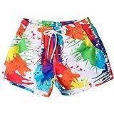 Qootent Women Summer Beach Board Shorts Quick Dry Slim Fit Stretch Swim Pants