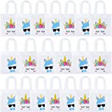 K KUMEED 20 Pack Unicorn Party Bags, Reusable Party Treat Bags Gift Goody Bags for Unicorn Party Favors, Christmas Boys and G