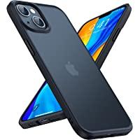 TORRAS 半透明 iPhone 13 用 ケース 耐衝撃 米軍MIL規格取得 マット感 黄ばみなし ストラップホール…