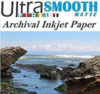 Ultrafine SmoothマットFineart 100%コットンRag Archival 320gsm 17milインクジェット紙11x 14/ 50シートボックスc2s両面