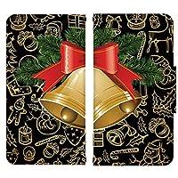 au シャープ AQUOS SERIE mini (SHV31) 高級手帳 手帳型ケース 手帳型カバー スライド式スマホケース 完全受注生産 クリスマス サンタ サンタクロース トナカイ 019