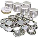 """250 Pck - 2.25 inch ONLY for BAM Machines Pin Buttons - Generic Compatible with Badge A Minit 2 1/4"""" (57 mm)"""