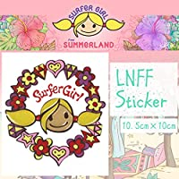 SURFeR GiRL LNFF Sticker ステッカー シール サーフィン BALI