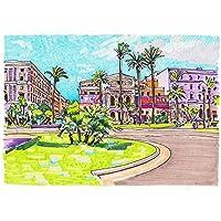 ArtzFolio Artwork Of Rome Italy Cityscape 1 Unframed Premium Canvas Painting 35.1 x 24.8inch